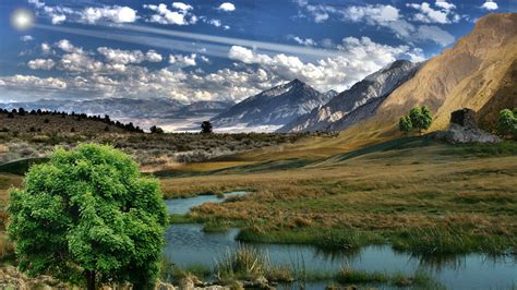 hdr, River, Landscape, Mountains Wallpapers HD / Desktop ...