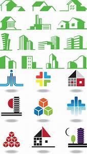 Colored building logos vector free download – VectorPicFree