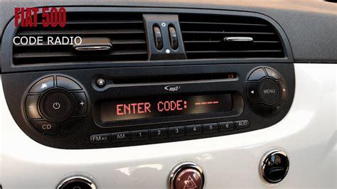 fiat 500 radio fiat 500 code radio