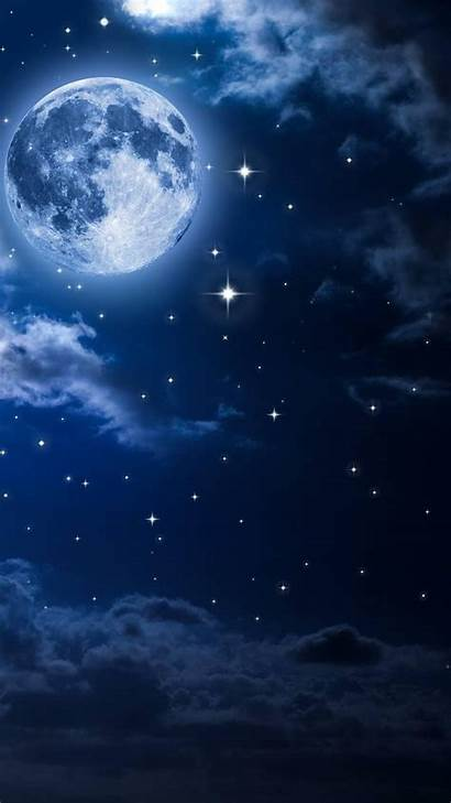 Moon Wallpapers Sky Night Lua Android Galaxy