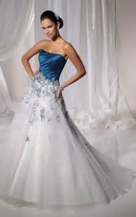 white dress wedding blue and white wedding dresses a trusted wedding source by dyal net