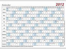 Kalender Vorlage 2012 mit Schulferien und Feiertagen – PDF