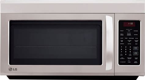 built in microwave ovens with exhaust fan lg lmv1813 1 8 cu ft over the range microwave with 400