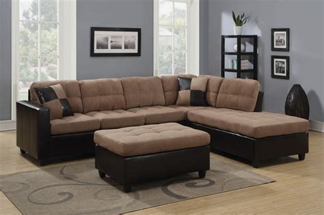 Microfiber Sofas And Sectionals by Coaster Casual Microfiber Leather Sectional Sofa