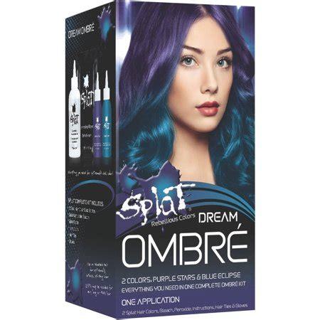 splat rebellious colors ombre dream purple stars blue