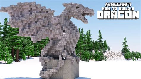 Minecraft How To Build A Dragon Statue (advanced) Youtube