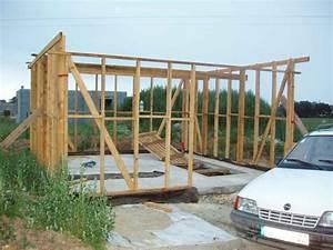 Cout Construction Maison Soi Meme : montage de l ossature bois du garage autoconstruction ~ Premium-room.com Idées de Décoration