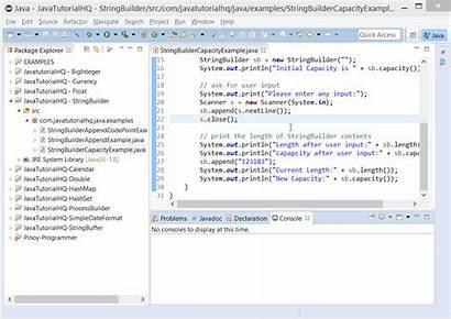 Example Stringbuilder Capacity Java Output Method