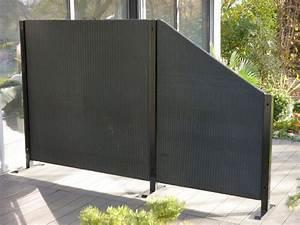 Paravent Garten Wetterfest : paravent visto l112x t32x h160 cm aus polyrattan in schwarz bei east west trading ~ Orissabook.com Haus und Dekorationen