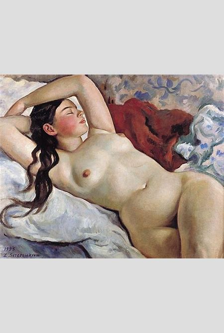 Reclining Nude, 1935 - Zinaida Serebriakova - WikiArt.org