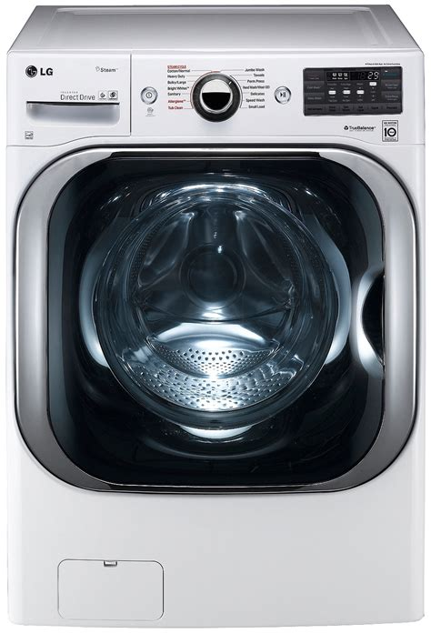 LG White Front Load Steam Washer WM8100HWA