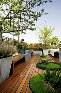 le jardin paysager tendance moderne de jardinage With amenager une terrasse exterieure 10 le jardin paysager tendance moderne de jardinage