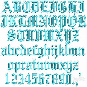 gothic 3d puff embroidery font With 3d monogram letters