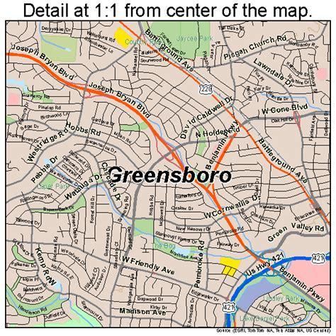 Greensboro North Carolina Street Map 3728000