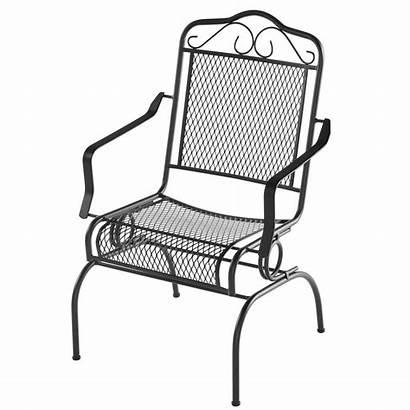 Dining Outdoor Chair Metal Hampton Rocking Patio