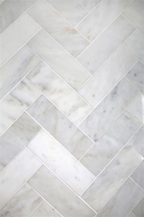 herringbone marble tile  beautiful mess