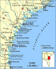 Georgia and South Carolina Low Country Map