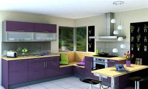 cuisine beige et bois cuisine vitaminée glossy glam violet beige idée de