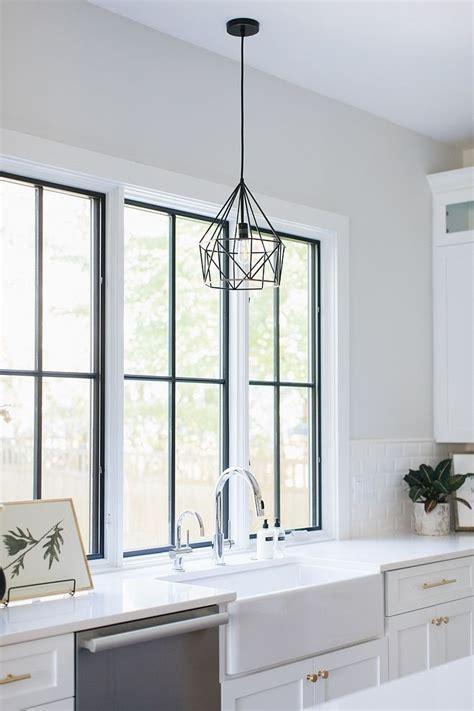 corner lot modern farmhouse kitchen sink lighting light