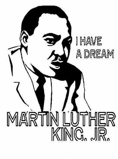Luther Coloring Martin King Jr Pages Printable
