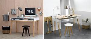 Bureau Design Scandinave : bureau design bois et blanc mobilier entreprise design lepolyglotte ~ Teatrodelosmanantiales.com Idées de Décoration