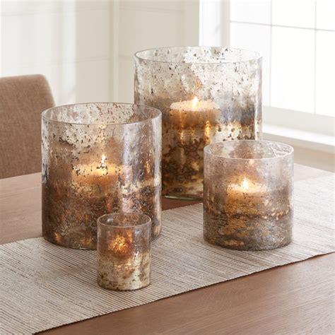 sona glass hurricane candle holders crate  barrel