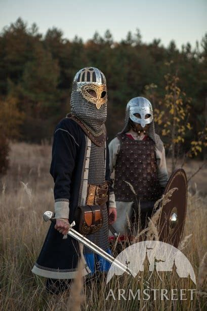 viking combat helmet valsgarde brown