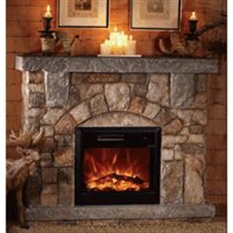 fireplaces  pinterest stone electric fireplace