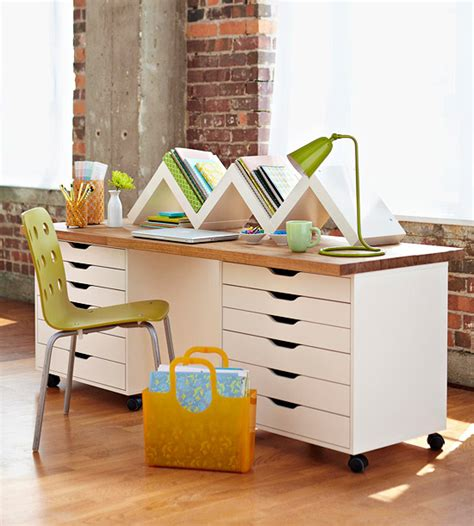 rolling craft table with storage diy furniture transformations