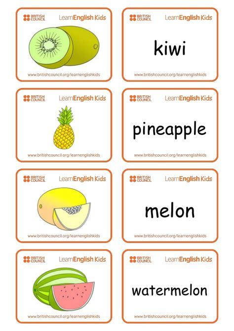 flashcards fruit