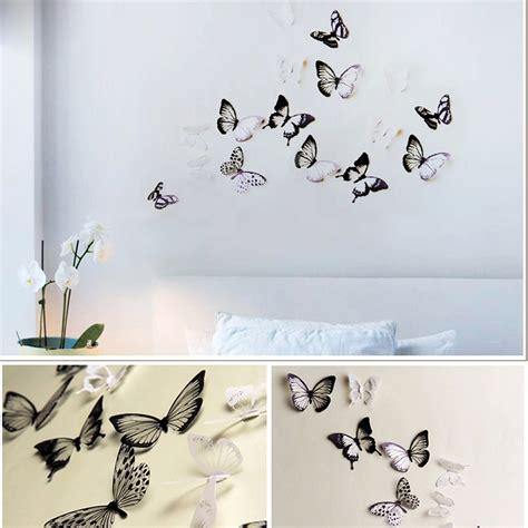 pack de  papillons  adhesifs translucides noir