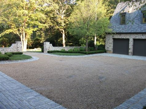 gravel courtyard gravel courtyard drive way bordered by cobblestone if i didn t have kids who love to ride