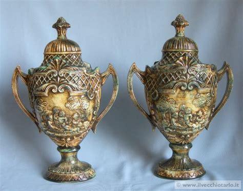 vasi capodimonte antichi porcellana capodimonte coppia potiche vasi porcellana