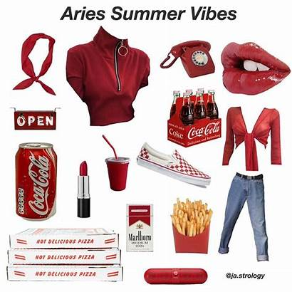 Aries Outfits Moodboard Aesthetic Scorpio Signs Clothes