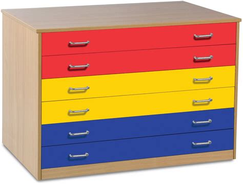 coloured storage drawers storage 6 drawer plan chest with coloured drawers