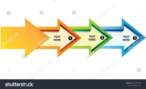 arrow flow chart  template stock vector