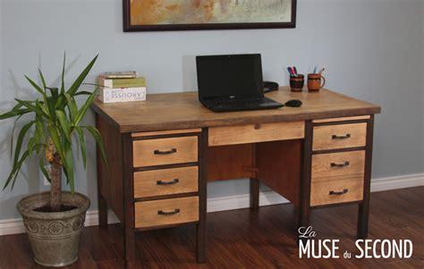 bureau bois massif moderne bureau de travail la muse du second