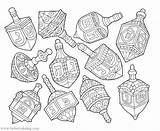 Dreidels Dreidel sketch template