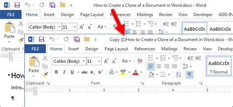 How To Create A Clone Of A Document In Word