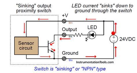 proximity switches circuit diagram operation