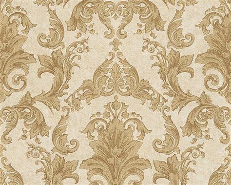 barock tapete türkis tapete vlies barock gold creme as creation versace 96215 5