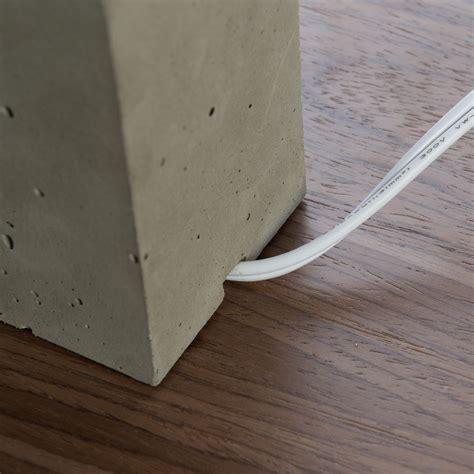 wood veneer table l shade petite table l concrete base with wood veneer shade
