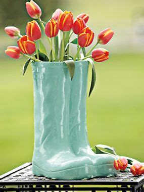 ceramic boots whimsical umbrella stand planter vase