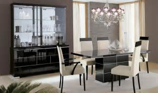 Dining Room Sets With Swivel Chairs contemporary black high gloss furniture em italia