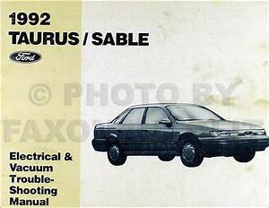 1992 Ford Taurus Mercury Sable Electrical Vacuum And