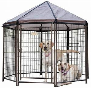 outdoor dog kennel steel pen pet playpen cover portable With movable dog pen