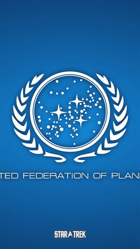blue star trek united federation  planets wallpaper