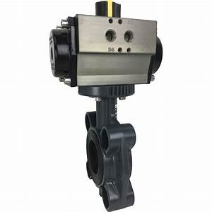 2 U2033 Air Actuated Pvc Butterfly Valve