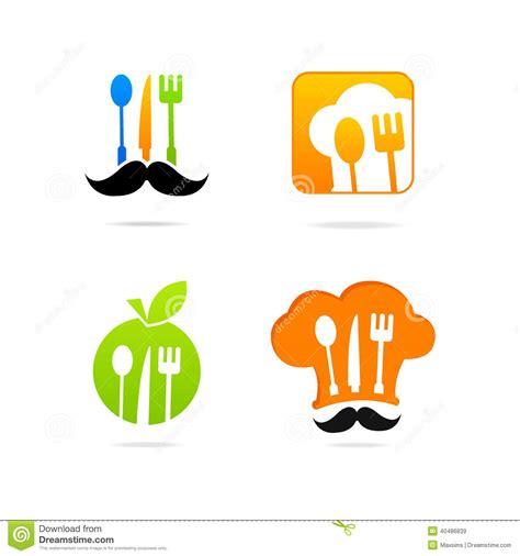logo de cuisine ensemble de signe de menu de logo de cuisine d 39 icon de cuisinier illustration de vecteur image