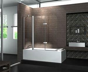 Duschwände Für Badewanne : duschtrennwand triple 150 x 140 badewanne ~ Buech-reservation.com Haus und Dekorationen
